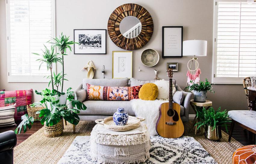 Inšpirácia pre obývačku - Boho štýl