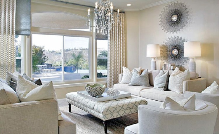 Inšpirácia do obývačky - Glamour štýl